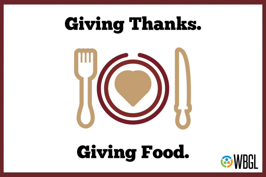 Giving thanks, giving food