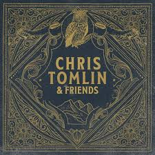 Chris Tomlin & Friends album cover black background with gold art design an owl at the top center and mountains drawn below the title the rest of the image is symetrical in its simplistic design