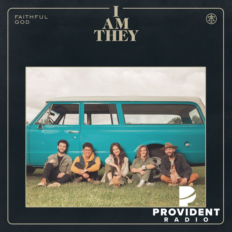 I Am They Faithful God Album Cover Band sitting leaned up against the side of an old car