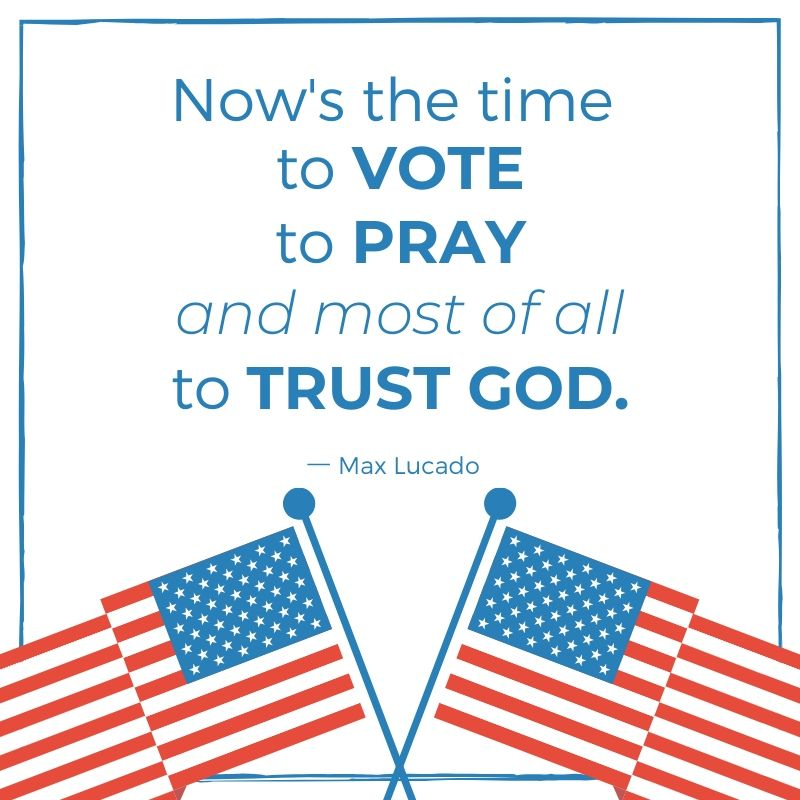 Quote from Max Lucado with American flags