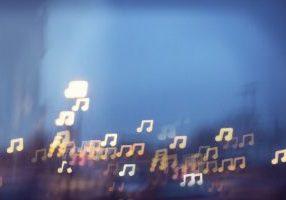 music notes fun light